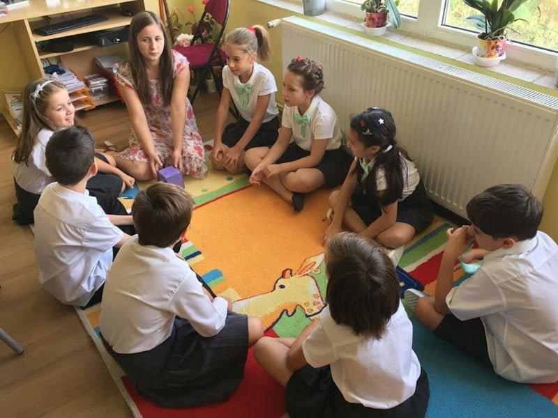 activitate cu copii in scoala particulara